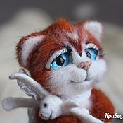 Куклы и игрушки handmade. Livemaster - original item Copyright felt toy kitten Ginge). Handmade.
