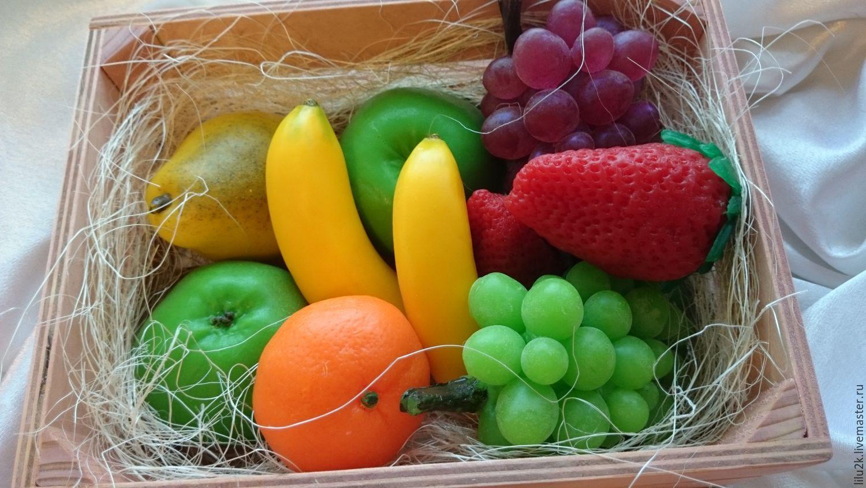 Мыло в форме фруктов