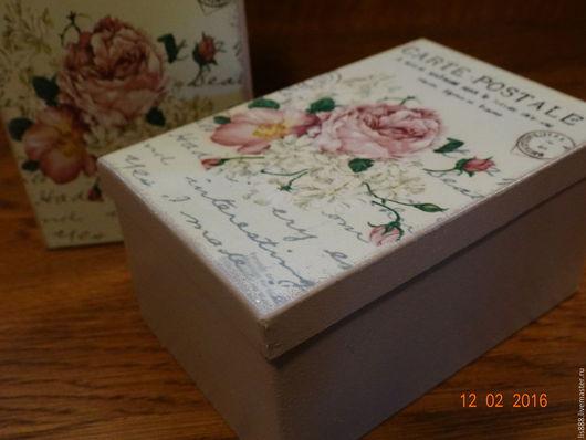 """Конфетницы, сахарницы ручной работы. Ярмарка Мастеров - ручная работа. Купить Коробка под сыпучие (железо) """"Прованские розы"""". Handmade."""