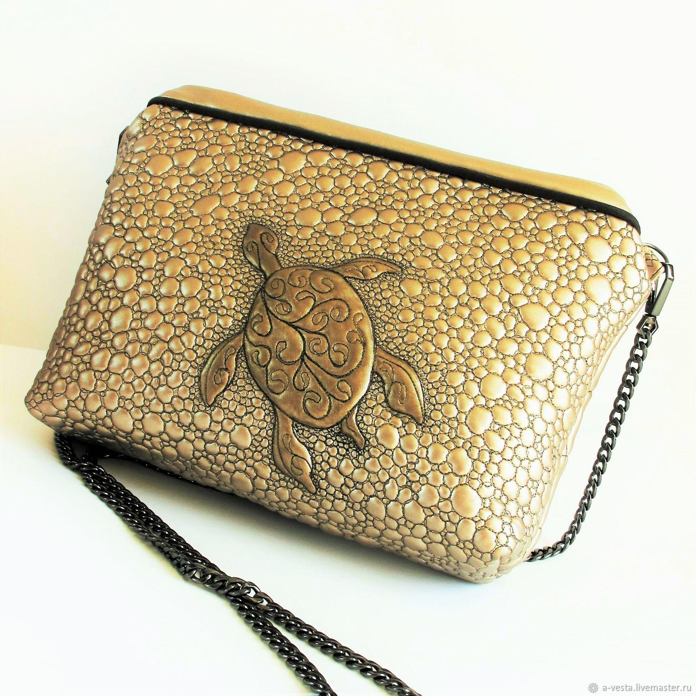 Women's sea Turtle handbag, cross-body, Crossbody bag, Saratov,  Фото №1