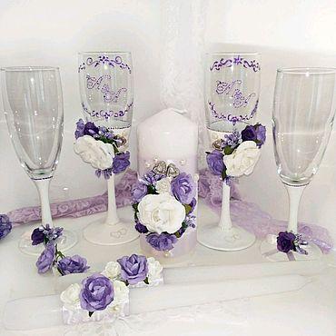 Свадебный салон ручной работы. Ярмарка Мастеров - ручная работа Свадебный набор с монограммой. Handmade.