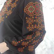 Одежда handmade. Livemaster - original item Blouse black with embroidery