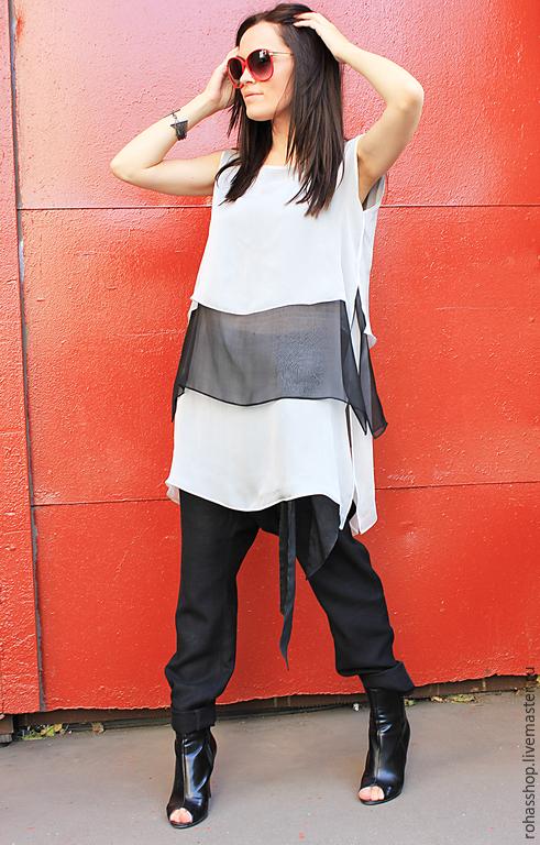 972e67039a6 ... R00015 Летняя блузка шифоновая туника туника из шифона белая блузка  летняя туника шифон свободный стиль шифоновый ...
