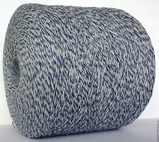 Пряжа Millefile ANNALISA Состав: кашемир 100 % Nm: 4/14, то есть 350 м в 100 г Цвет: меланж (4 нити вместе: голубая, синяя и 2 белых.