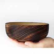 Пиалы ручной работы. Ярмарка Мастеров - ручная работа Пиалы: Деревянная маленькая черная пиала - миска - чаша для супа. Handmade.