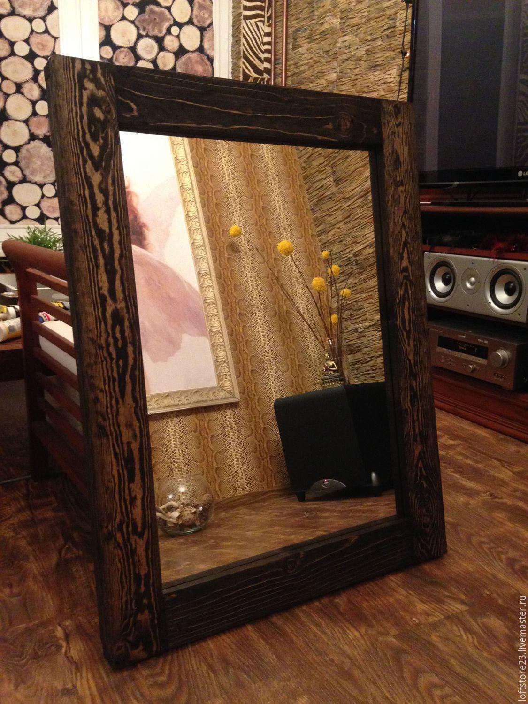 Рама для зеркала из досок