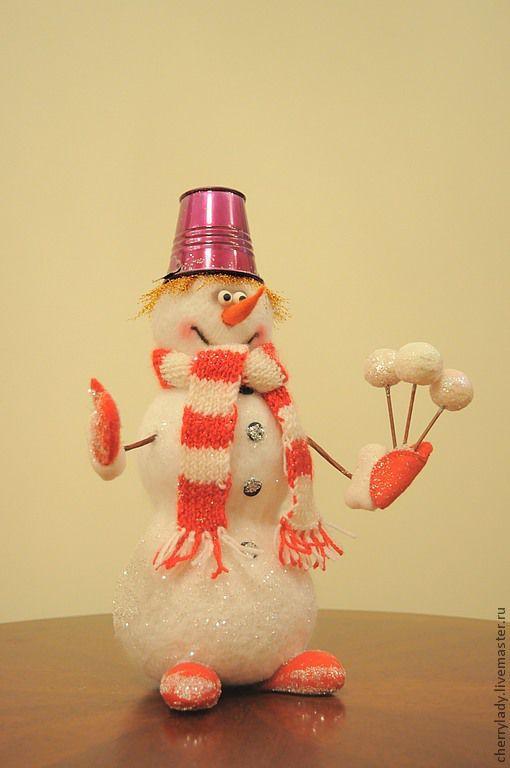 Новый год 2017 ручной работы. Ярмарка Мастеров - ручная работа. Купить Романтичный снеговик. Handmade. Белый, Новый Год, снеговики