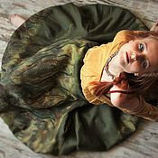 Одежда ручной работы. Ярмарка Мастеров - ручная работа Войлочная юбка-шар Дорога в лесу. Handmade.