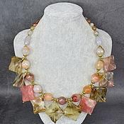 Украшения handmade. Livemaster - original item Necklace gift for your beloved woman made of chalcedony stone. Handmade.