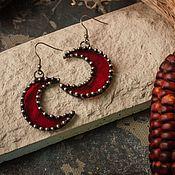 Украшения handmade. Livemaster - original item Scarlet Rain Earrings (e-003 -12). Handmade.
