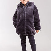 Работы для детей, handmade. Livemaster - original item Fur jacket for boy, Mouton. Handmade.