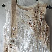 Одежда ручной работы. Ярмарка Мастеров - ручная работа туника валяная с кружевом. Handmade.