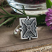 Украшения handmade. Livemaster - original item Ring Of Sorcerers. Imperial ring Dishonored silver Nickel silver. Handmade.
