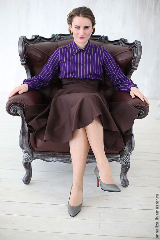 """Блузка в ретро стиле """"Полосатый рейс"""", Блузки, Москва, Фото №1"""