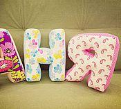 Для дома и интерьера ручной работы. Ярмарка Мастеров - ручная работа Буквы-подушки для малышки. Handmade.