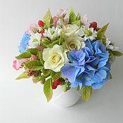 handmade. Livemaster - original item Decorative bouquet in a Cup. Interior bouquet
