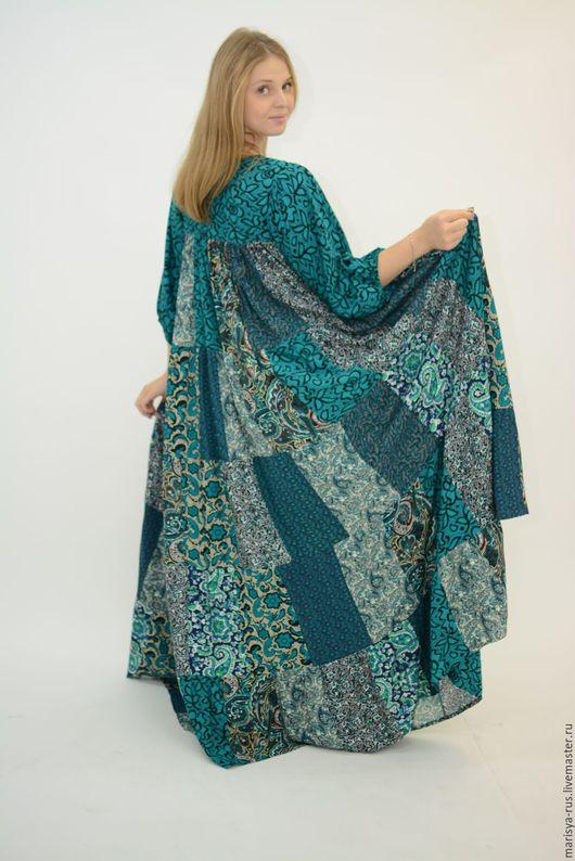 """Платья ручной работы. Ярмарка Мастеров - ручная работа. Купить Лоскутное платье """"Шкатулочка"""". Handmade. Тёмно-зелёный, платья марыся"""