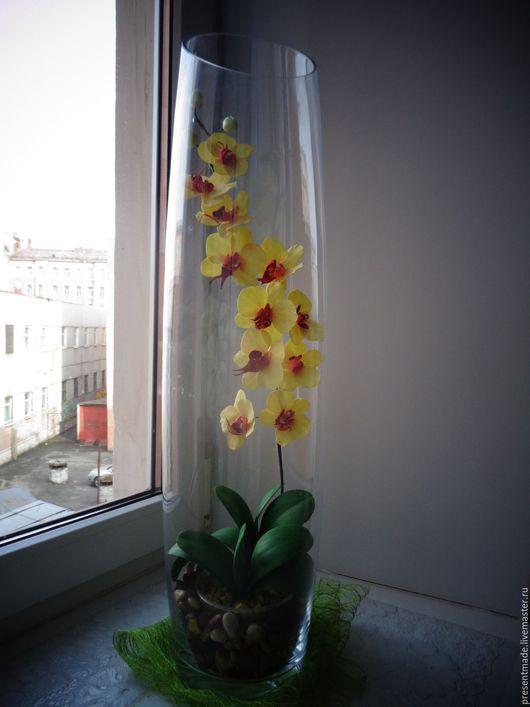 Интерьерные композиции ручной работы. Ярмарка Мастеров - ручная работа. Купить Орхидея в вазе. Handmade. Интерьерная композиция, орхидея фаленопсис