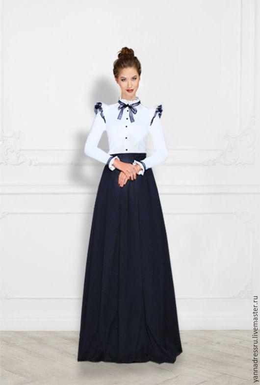 """Платья ручной работы. Ярмарка Мастеров - ручная работа. Купить Платье  """"Noblewoman"""". Handmade. Чёрно-белый, однотонный, платье летнее"""