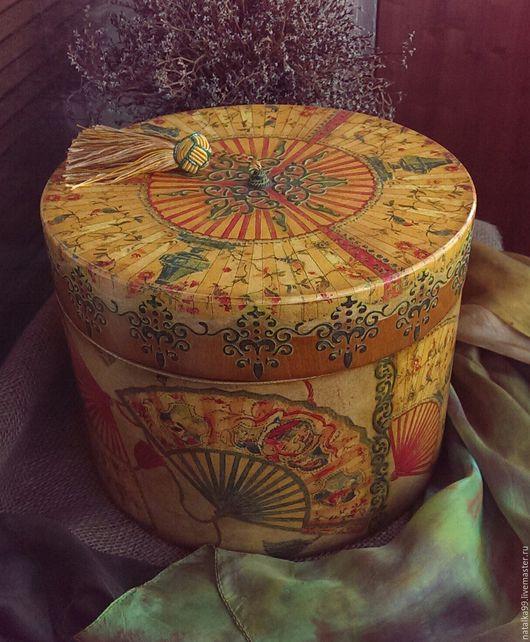 """Шкатулки ручной работы. Ярмарка Мастеров - ручная работа. Купить Шляпная коробка """" Dolce vita """". Handmade. Подарок"""