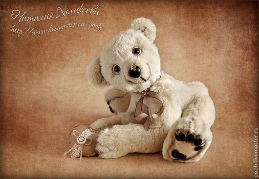 Мишки Тедди ручной работы. Ярмарка Мастеров - ручная работа. Купить УМКА Авторский коллекционный медведь. Handmade. Белый