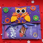 Подарки к праздникам ручной работы. Ярмарка Мастеров - ручная работа Шоколадница из фетра. Handmade.