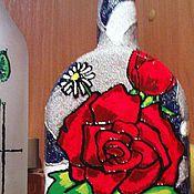 """Посуда ручной работы. Ярмарка Мастеров - ручная работа Декоративная бутыль """"Королева в ромашках"""". Handmade."""