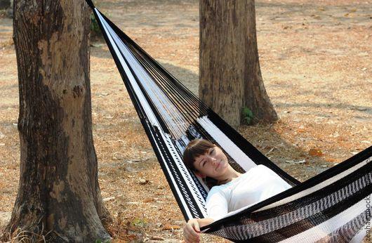 Стильный черно-белый гамак для дома и дачи ZEN hammocks
