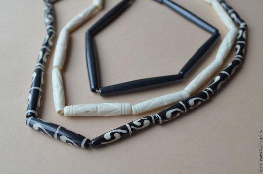 Для украшений ручной работы. Ярмарка Мастеров - ручная работа. Купить Бусины кость, палочки, три вида. Handmade. бусины