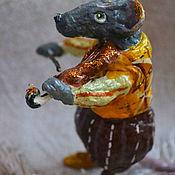 """Елочные игрушки ручной работы. Ярмарка Мастеров - ручная работа Ватная елочная игрушка """"скрипач"""". Handmade."""