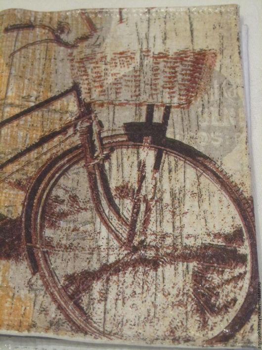 """Обложки ручной работы. Ярмарка Мастеров - ручная работа. Купить Обложка для паспорта """"Велосипед в стиле ретро"""". Handmade. Комбинированный"""