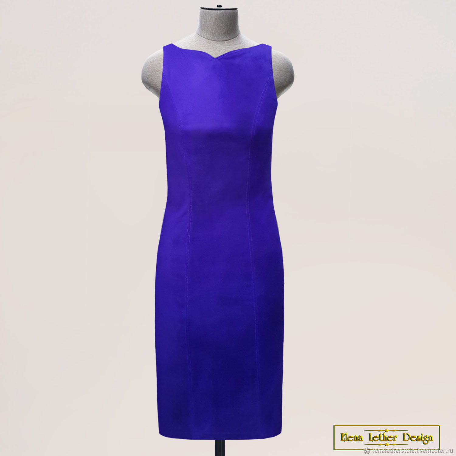Dress 'Brace' made of genuine suede/leather (any color), Dresses, Rodniki,  Фото №1