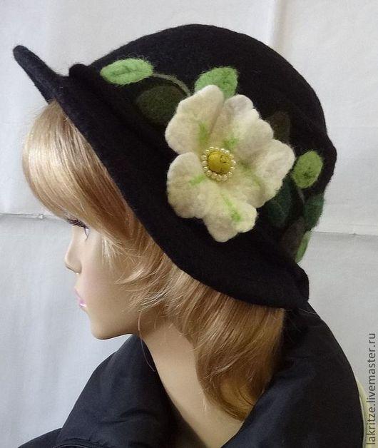 """Шляпы ручной работы. Ярмарка Мастеров - ручная работа. Купить Шляпка - клош """"Любимая"""".. Handmade. Черный, фурнитура для бижутерии"""
