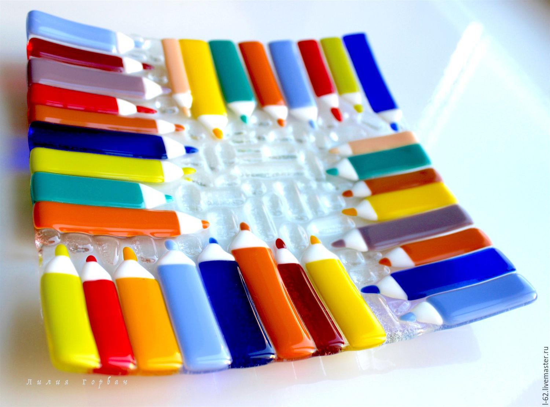 Fusing, glass plates, Pencils, Plates, Rostov-on-Don,  Фото №1