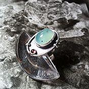 Украшения handmade. Livemaster - original item Chrysoprase and garnet ring