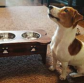 """Для домашних животных, ручной работы. Ярмарка Мастеров - ручная работа Подставка под миски """"Косточка"""". Handmade."""