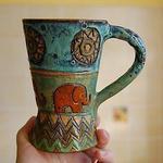 Терракотовый слон- студия керамики - Ярмарка Мастеров - ручная работа, handmade