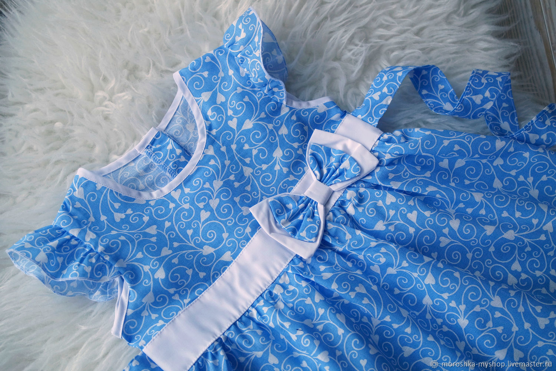 Платье для девочки Голубые узоры
