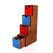 Куклы и игрушки handmade. Livemaster - original item Rack-ladder with boxes for dolls 1:6 (YoSD). Handmade.