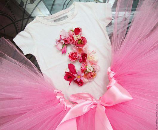 Одежда для девочек, ручной работы. Ярмарка Мастеров - ручная работа. Купить Цветочные комплекты. Handmade. Розовый, для малышки, на фотосессию