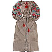 "Одежда handmade. Livemaster - original item Long embroidered Boho style dress ""Morning Haze"". Handmade."