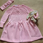 Работы для детей, ручной работы. Ярмарка Мастеров - ручная работа Нарядное платье и повязка для девочки. Handmade.