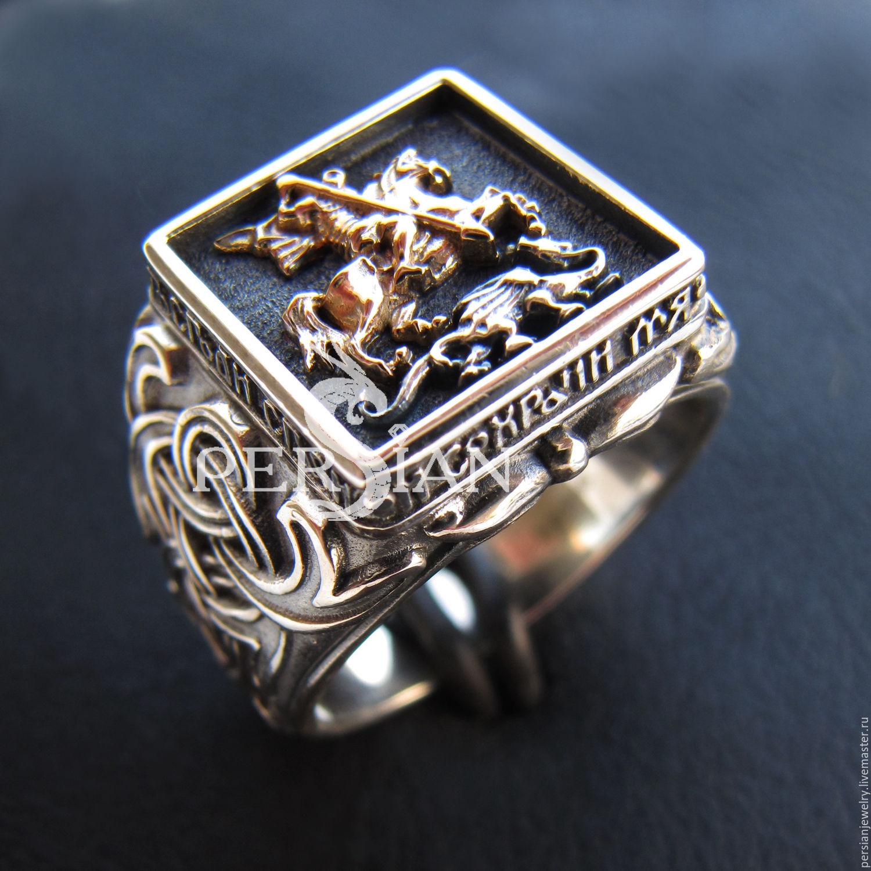 страницу перстень мужской золотой с георгием победоносцем забора частного