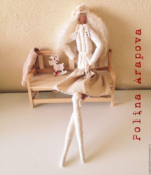 Куклы Тильды ручной работы. Ярмарка Мастеров - ручная работа. Купить Текстильная кукла Изабелла. Handmade. Бежевый, кукла интерьерная