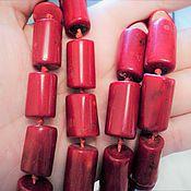 Материалы для творчества handmade. Livemaster - original item Coral large tube of 17-21mm. Handmade.