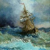 Картины и панно handmade. Livemaster - original item Oil painting Storm. Handmade.
