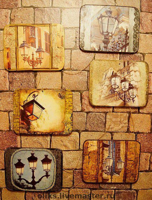 City handmade. Livemaster - handmade. Buy Set of panels for the interior Lights.Decorative panel, lacquer