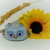 Мягкие игрушки ручной работы. Ярмарка Мастеров - ручная работа Совенок Василёк ,сова  из шерсти, войлочная ,мягкая игрушка. Handmade.