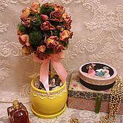 """Цветы и флористика ручной работы. Ярмарка Мастеров - ручная работа Топиарий """"Чайная роза"""". Handmade."""