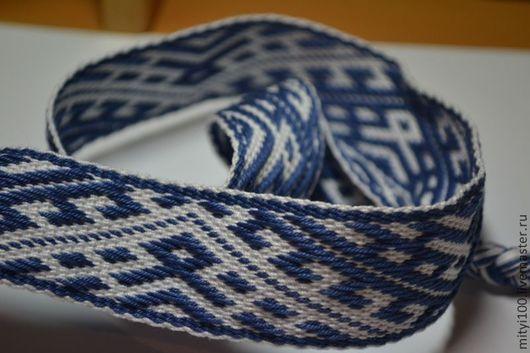 Одежда ручной работы. Ярмарка Мастеров - ручная работа. Купить Очелье ОДАЛ  (синее). Handmade. Синий, хлопок 100%